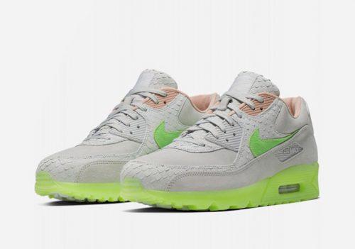 Nike actualiza las Air Max 90 Premium con »Pure Platinum/Electric Green»
