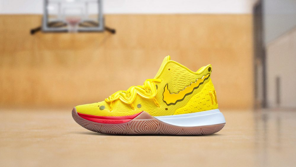 NikeNews NikeBasketball Kyrie Spongebob DSC 8071 1 hd 1600 1000x563 - La peculiar línea de Bob Esponja de Nike Kyrie vuelve a las tiendas