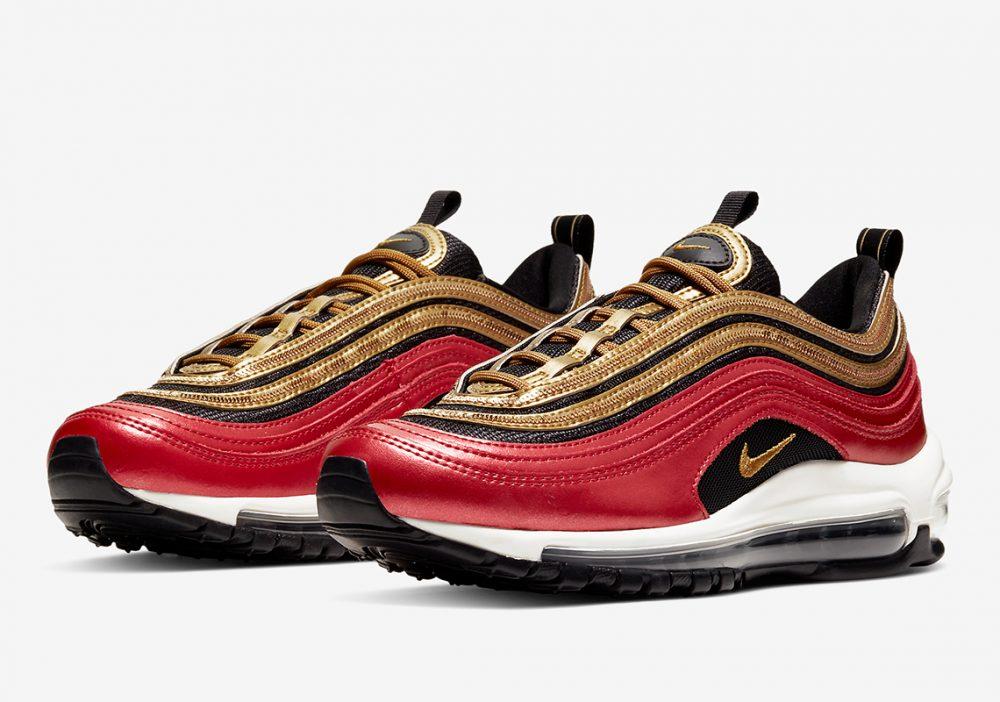 nike air max 97 CT1148 600 5 1 1000x702 - Las nuevas Nike Air Max 97 rojas y doradas son todo lo que necesitas