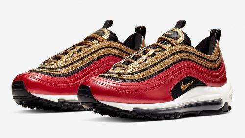 Las nuevas Nike Air Max 97 rojas y doradas son todo lo que necesitas