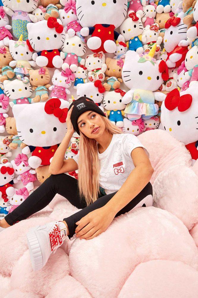 19AW xSP Hello Kitty Adult Model 0163 667x1000 - PUMA celebra el 45 aniversario de Hello Kitty con una nueva colección