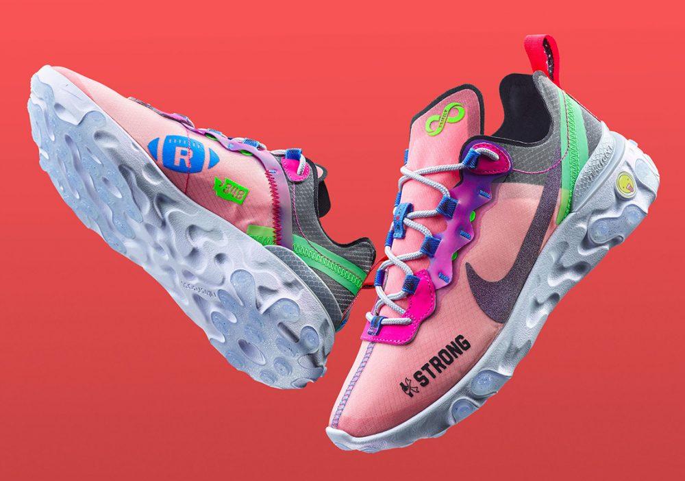 Doernbecher Freestyle 2019 Nike React Element 55 Release Date 1 1000x702 - Los niños de Doernbecher reinventan las zapatillas más clásicas de Nike