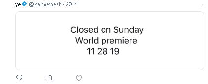 Kanye 1 - Kanye West anuncia el estreno mundial de 'Closed On Sunday'