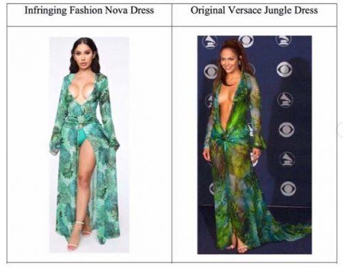 Versace 500x390 - Versace demanda a Fashion Nova por plagiar el icónico vestido de J. Lo
