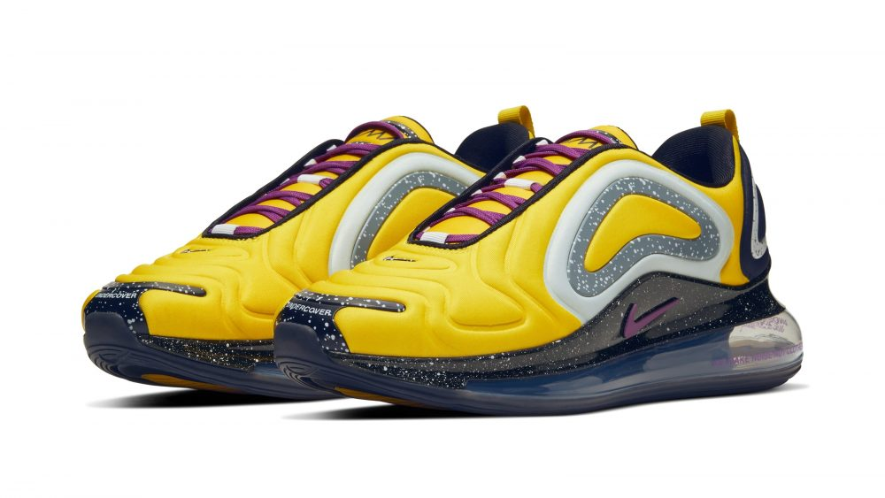undercover nike air max 720 yellow pair 1000x563 - Todos los detalles de las nuevas Nike Air Max 720 de Undercover