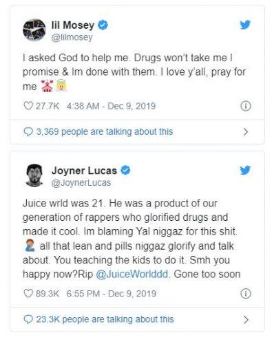 Captura 2 395x500 - Trippie Redd y Lil Mosey dejan las drogas tras la muerte de Juice WRLD