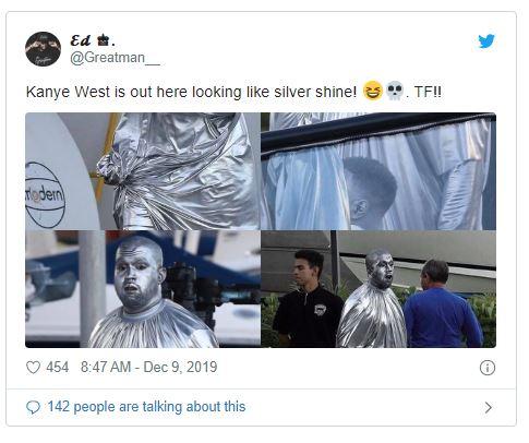 Captura1 - Kanye West impacta al pintarse de plateado para su nueva ópera