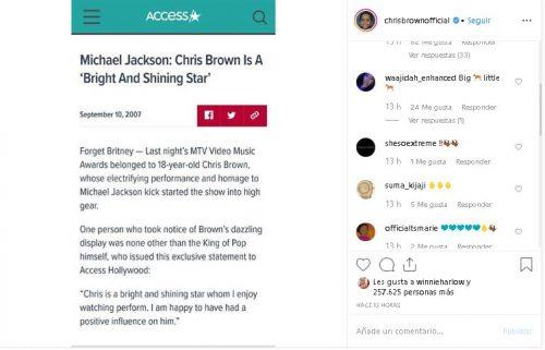 Chris Brown 500x321 - Chris Brown recuerda a todo el mundo que Michael Jackson lo admiraba