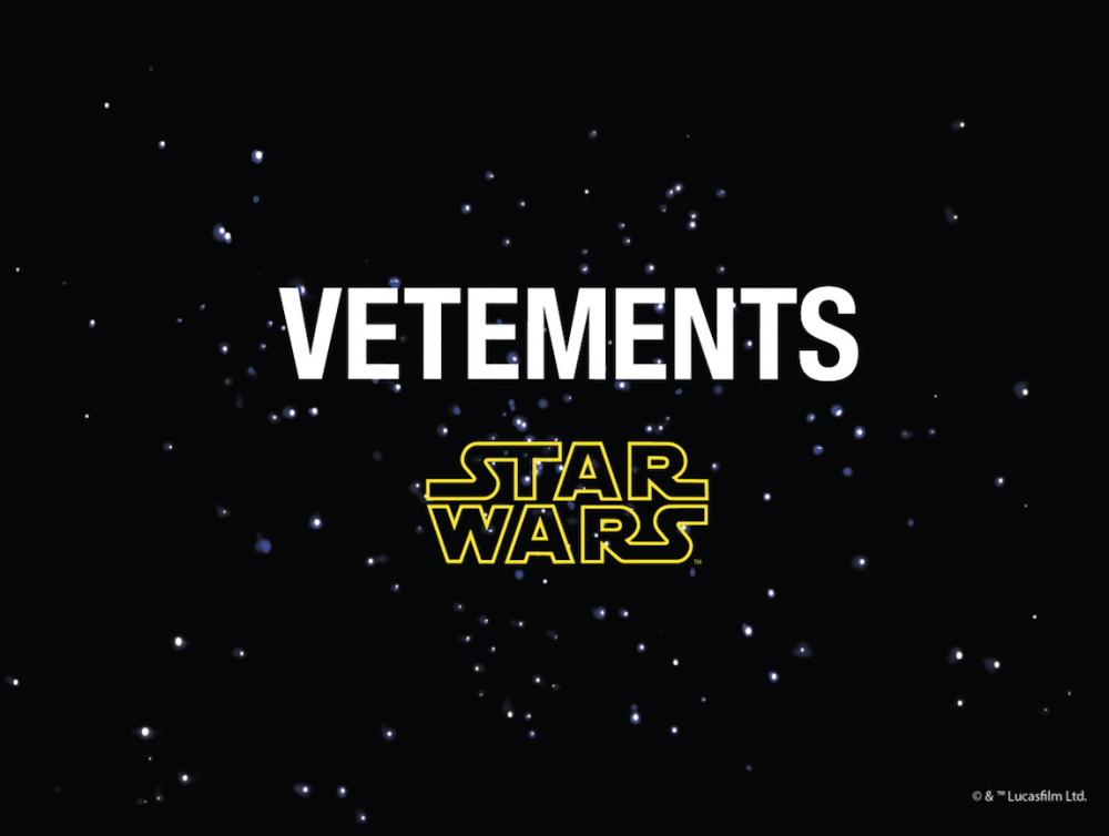 Vetements lanzará una colección de 44 piezas sobre Star Wars