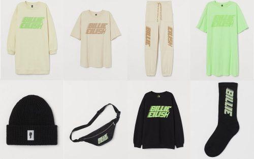 ビリー・アイリッシュ HMマーチ・コレクション 500x314 - Billie Eilish lanza una colección de ropa sostenible junto a H&M