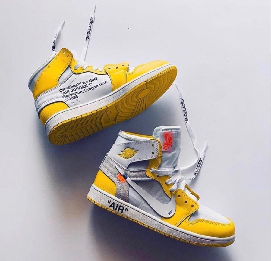 """20191229234655 - Se paraliza el lanzamiento de las Off-White x Air Jordan 1 """"Canary Yellow"""""""