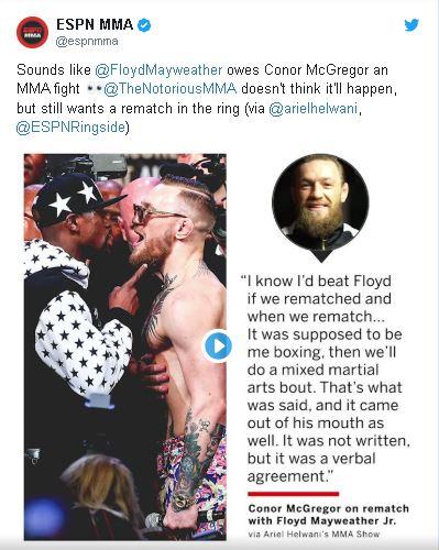 Captura 18 - Conor McGregor dice que quiere una revancha con Mayweather