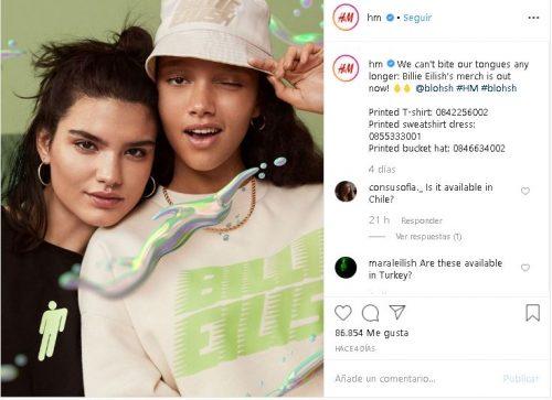 Captura 7 500x363 - Billie Eilish lanza una colección de ropa sostenible junto a H&M