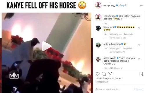 Captura3 500x320 - 50 Cent trollea a Kanye por caerse de un caballo en el Sunday Service