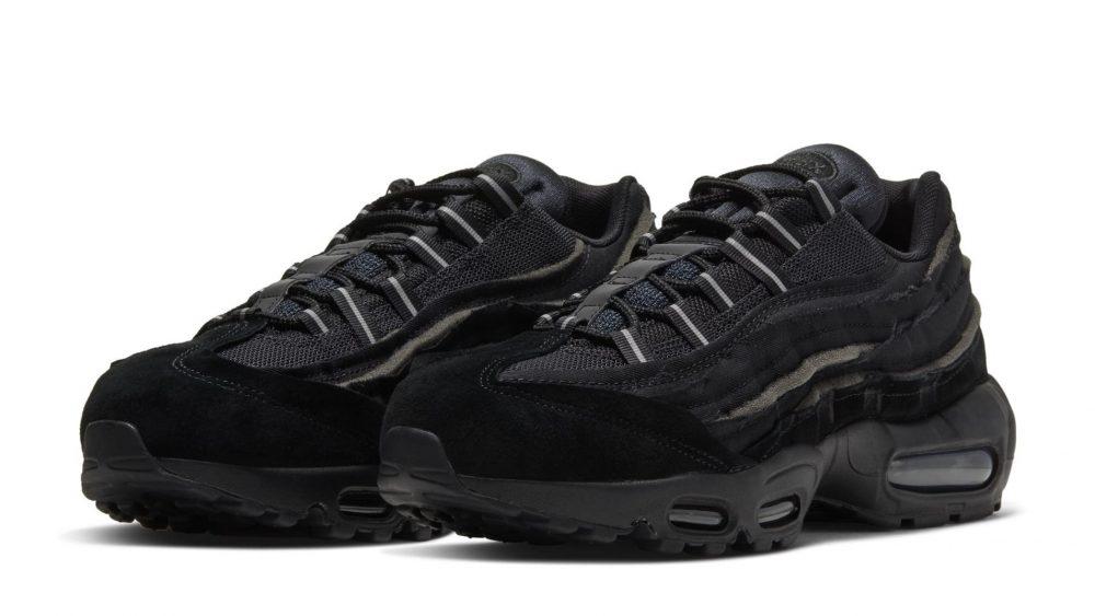 comme des garcons nike air max 95 triple black 2 1000x563 - Nike y Comme Des Garçons presentan unas nuevas Air Max 95