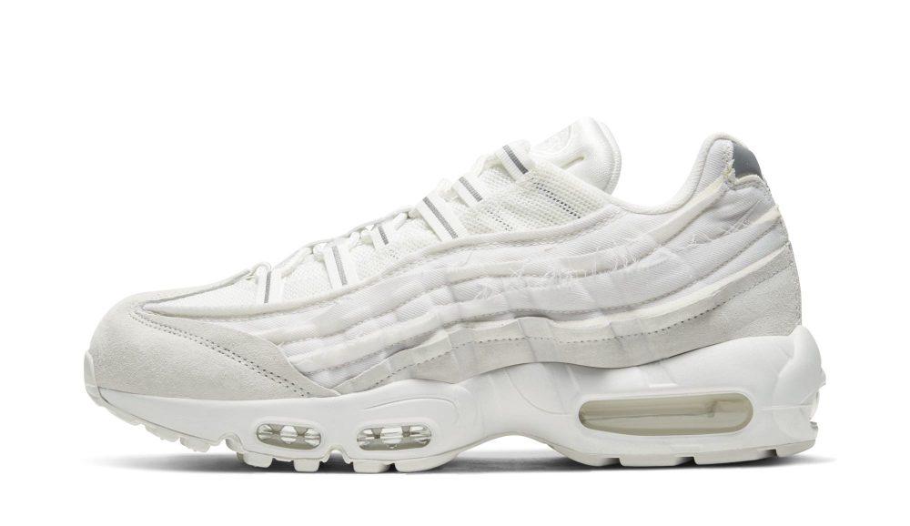 comme des garcons nike air max 95 white 2 1000x578 - Nike y Comme Des Garçons presentan unas nuevas Air Max 95