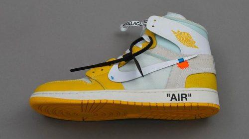 """Se paraliza el lanzamiento de las Off-White x Air Jordan 1 """"Canary Yellow"""""""