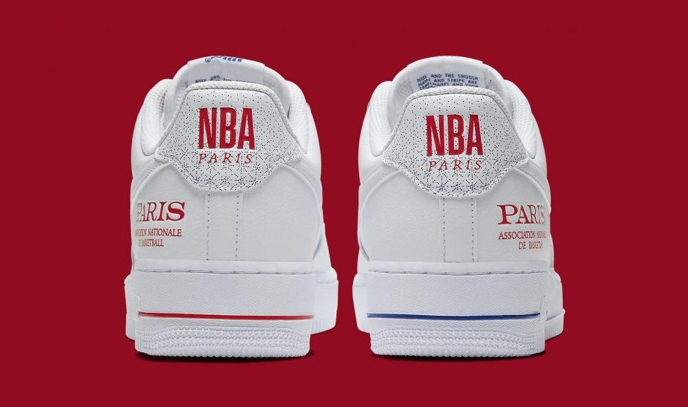 nike air force 1 low paris game 2020 cw2367 100 heel 1000x592 - Nike prepara las Air Force 1 Low 'NBA Paris Game 2020'