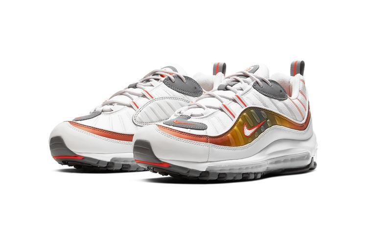 https  hypebeast.com image 2020 02 nike air max 98 cd0132 002 5 - Nike reinventa las Air Max 98, 270 React y 200 con tonos metálicos