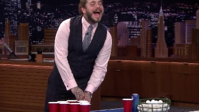 Post Malone organiza un campeonato de beer pong entre artistas