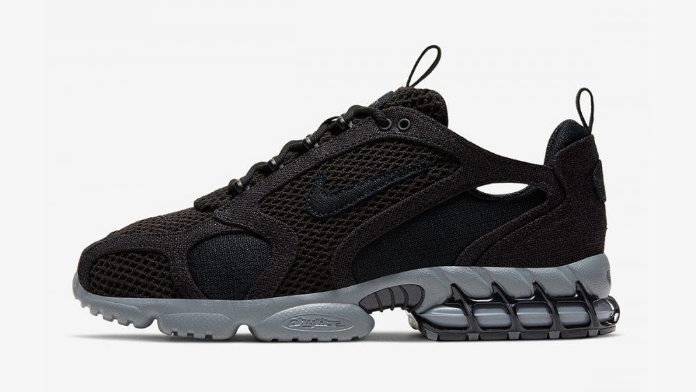 Stüssy y Nike presentan unas nuevas Zoom Spiridon Cage 2 en color negro