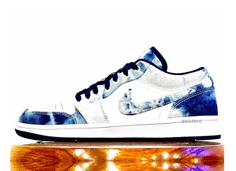 Nike se pasa al tie dye con las nuevas Air Jordan 1 Low 'Washed Denim'
