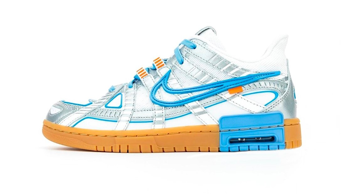 Todos los detalles de las Off-White x Nike Air Rubber Dunk 'University Blue'