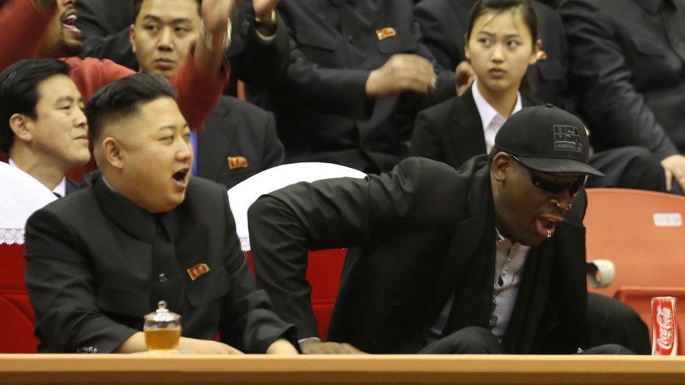 """La noche de """"chicas y Vodka"""" de Dennis Rodman y Kim Jong Un"""