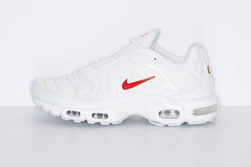Todos los detalles de las Supreme x Nike Air Max Plus «White/Red»