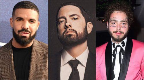 Drake, Post Malone y Eminem entre los más escuchados de la década