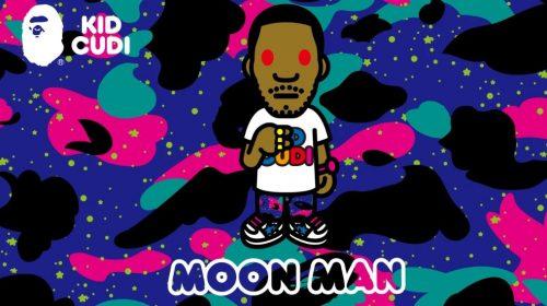 """BAPE y Kid Cudi anuncian una colaboración inspirada en """"Moon Man"""""""