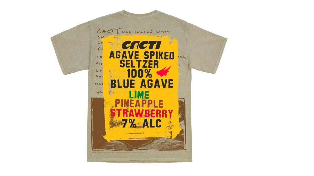Todos los detalles del merchandising de Cacti, la bebida de Travis Scott